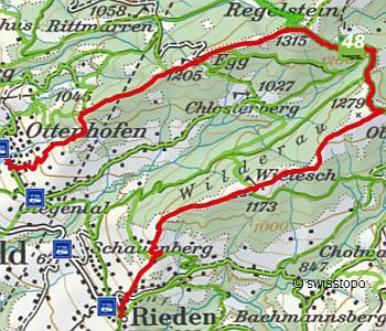 Wanderlandkarte