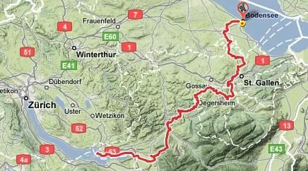 Vom Bodensee zum Zrichsee Weitwanderung Romanshorn Wittenbach