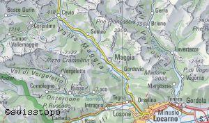 kanton tessin landkarte